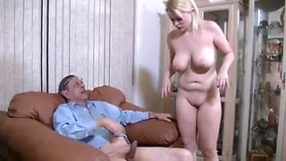 Oldman and Hot Blonde