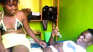 Real African amateur lubed up and fucked until she cums