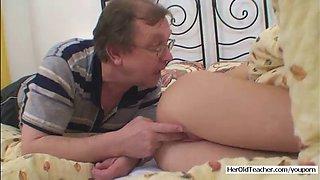 sleeping girl fucked by old man