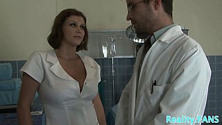 MILF nurse with hugetits fucked from behind