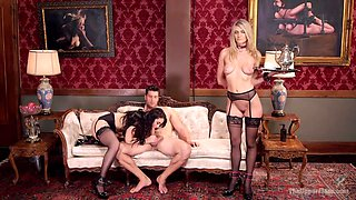 Ramon Nomar & Amanda Tate & Mandy Muse in Lovely Slave Twin Set Trained To Please Our Guest - TheUpperFloor