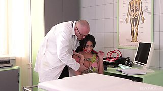 Horny doctor talked lovely Tina Kay into screwing with him