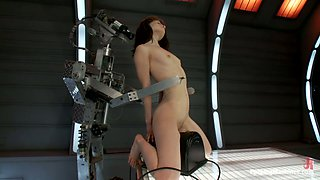 Sensi Pearl doesn't mind to take a good ride on a fucking machine