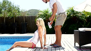Stunning Christen Courtney gets fucked roughly by the pool
