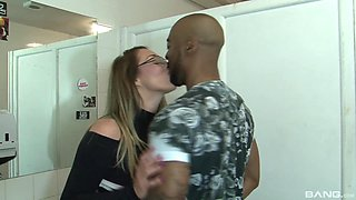 Aroused Victoria Summers having a lovely time with her coal fucker