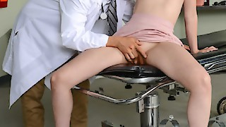 Dr. Corvus diagnosed Casey's pussy that taste like cherry pie