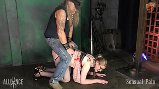 rose is being disciplined by the master