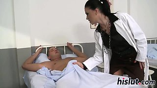 Fantastic doctor rides her patients big cock