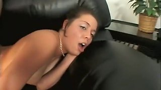 Innocent young beauty rides a huge throbbing cock down to the balls