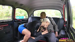 big black cock in a fake taxi