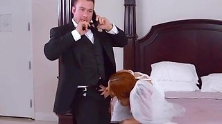 Hot Bride Lennox Luxe Blows Well Hung Best Man
