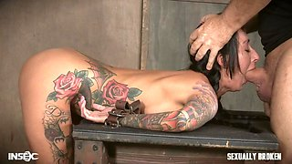 the bondage executors screwing a tattooed brunette