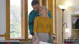 blonde boss babe zazie skymm banged by big cock worker