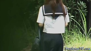 Japanese student peeing