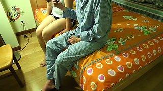 Chinese girlfriend enjoys her spanking