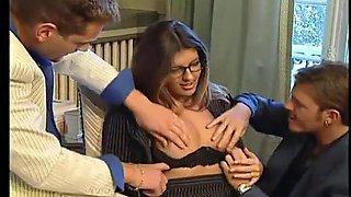 threesome with secretary part 2 on thewildpussycam.com