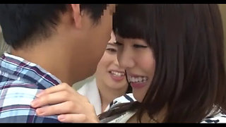 Cute Japanese Office Softcore Kissing Party Version I