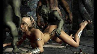 Ogres Gangbang 3D Princesses
