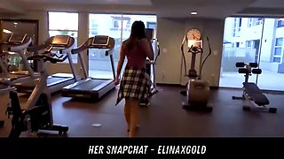 teen fucks in a public gym her snapchat - elinaxgold