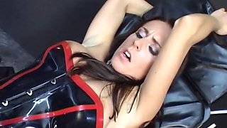 Crazy Latex Chick fucking