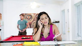 Keilani joined her bf and her boss for a hot threesome