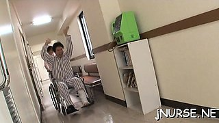 Superb nurse porn in three-some