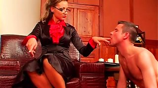 nasty mistress dominates dude