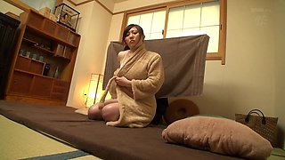 Oiled up Japanese chick ravished by an insatiable lover