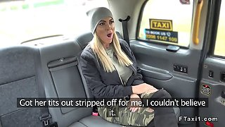 busty australian hottie bangs in fake cab