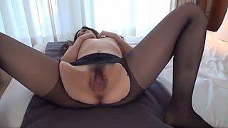 Pantyhose japanese wife