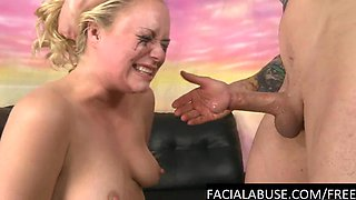 Mindy Deep throat & pussy roughed