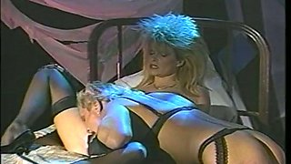 Lewd crossdresser gets a kinky blowjob from messy haired bitch