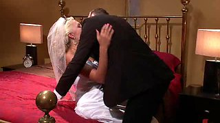 Blonde Bride Gets Abused and Gangbanged By Masked Dudes