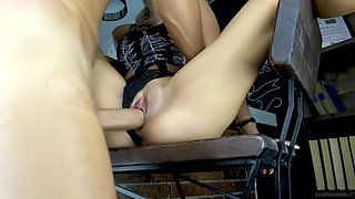 Teen Fuck on Kitchen and Cum on Pussy