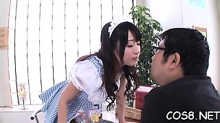 Japanese schoolgirl gets boyfriend to drill her hard at home
