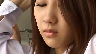 Exotic Japanese girl Akane Mochida, Rina Himekawa in Best Public, Bus JAV scene