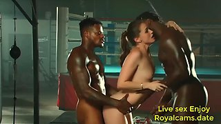 Black is oiled up and dominated by bbc