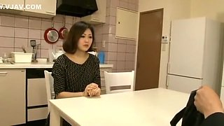 Best Japanese chick in Incredible Kitchen JAV movie