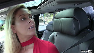 Blonde Cherie shaved pussy roughly smashed hardcore