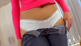 delicate chick has camel toe