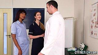 Cfnm nurses get cumshot