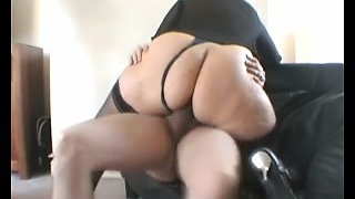 Secretary with a big round rump rides my thick dick - compilation