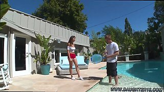 Blowjob red lips and asia teen double penetration first time Nina North Fucks The Pool Man