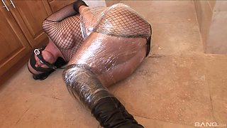 A dominate black girl has BDSM fun with a his white slave girl