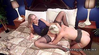 huge tits milf mistress anal bangs blonde