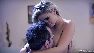 Hot like hell spoiled blonde Jessa Rhodes had fancy 69 style sex with feverish buddy in bed