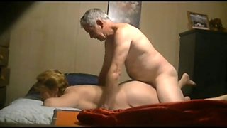 Mom cheating on dad in his own bed