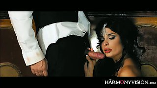 Raven haired divine mistress Anissa Kate gets banged by horny guest