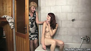Parents enjoy great time with their son\'s GF