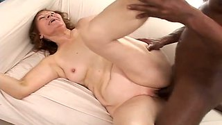 Incredibly horny granny is addicted to big black cocks